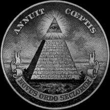 Représentation à la gauche de 'one' (pour l'observateur), au verso du billet d'1 $