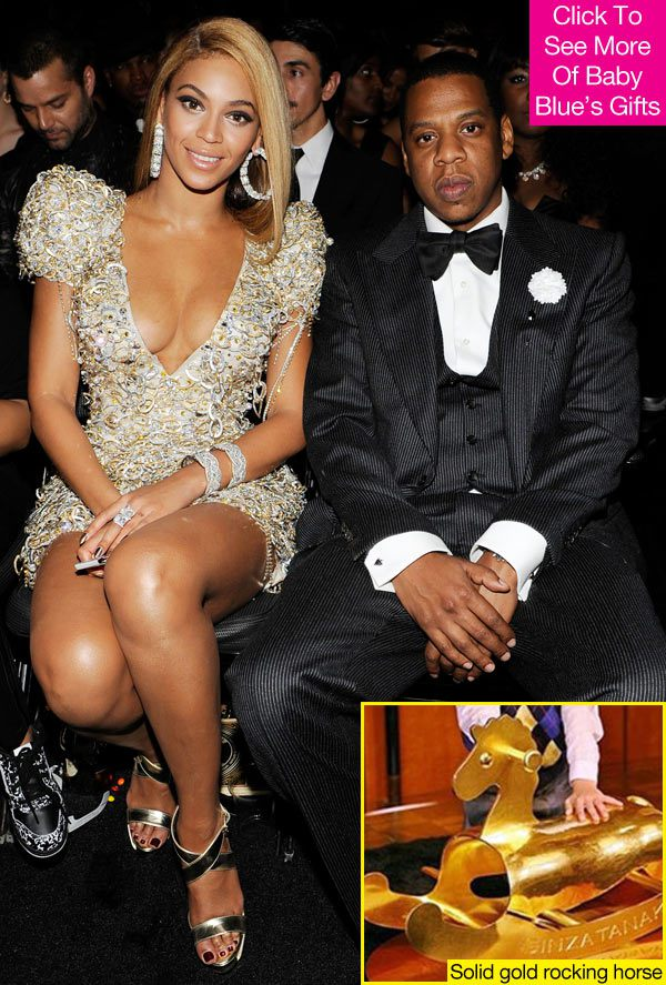 the solid-gold rocking horse Beyoncé and Jay-Z bought Ivy Blue