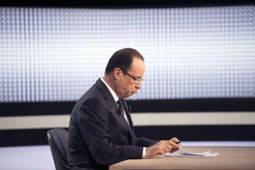 Hollande face à Pujadas