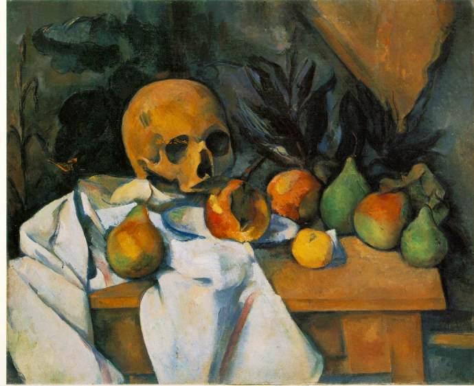 Cézanne, Nature morte au crâne (1895-1900)