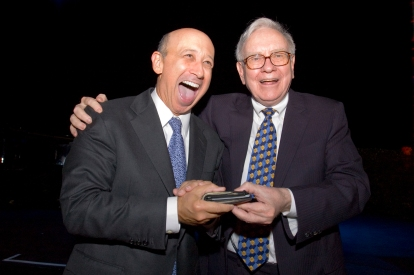 Goldman's Blankfein with charitable philanthropist Buffett