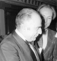 Vanden Boeynants avec le baron (jésuite) de Bonvoisin