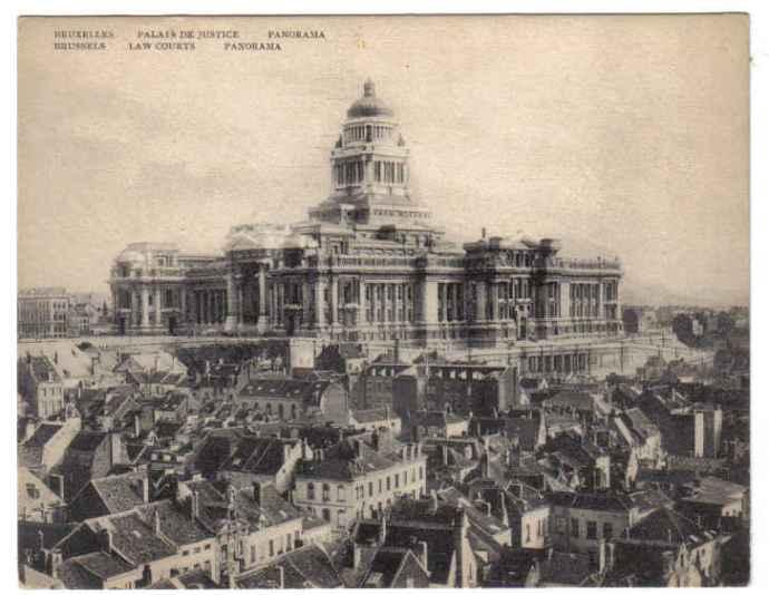 Bruxelles, palais de Justice (année indéterminée)