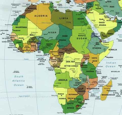 Carte Afrique - Moyen-Orient