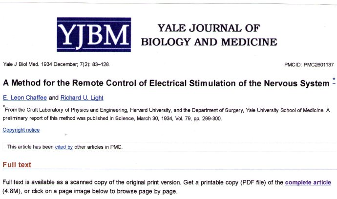 1 - YALE JOURNAL OF BIOLOGY AND MEDICINE, 7 décembre 1934, pp 83-128