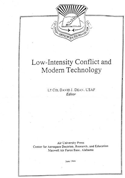4 - Low-Intensity Conflict and Modern Technology, US Air Force, Air University Press, juin 1986