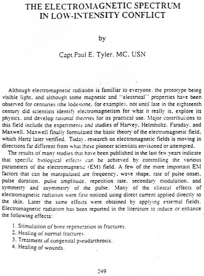 5 - Capt P Tyler (US Navy), The Electromagnetic Spectrum in Low-Intensity Conflict, Air University Press, 1986, p 249 et suivantes