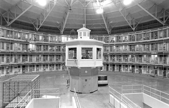 An illustration of Foucault's penitentiary system