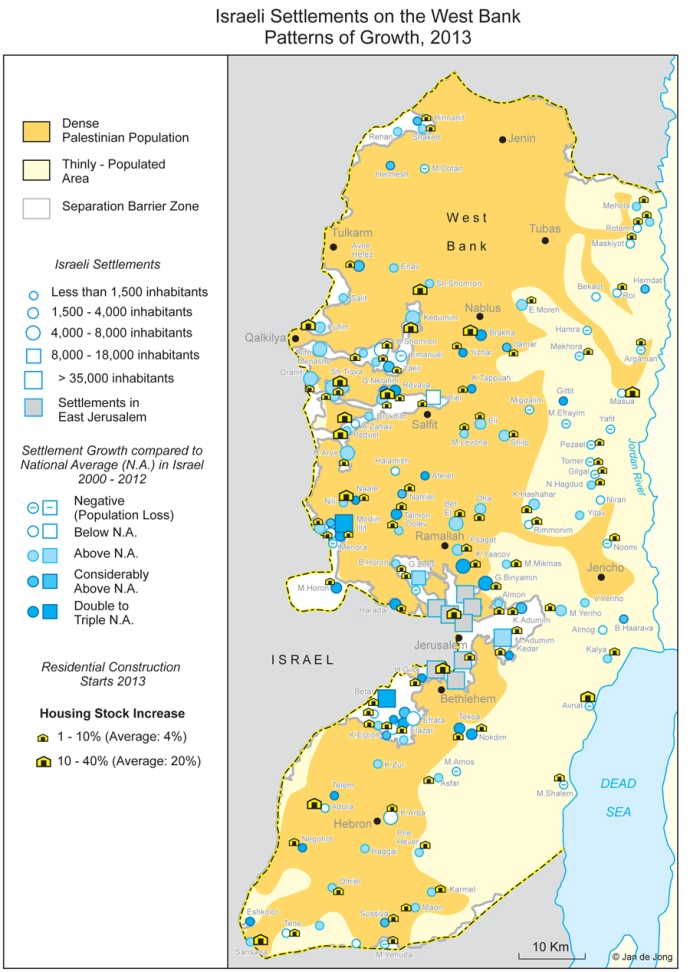 Israeli settlements in the West Bank (2013)