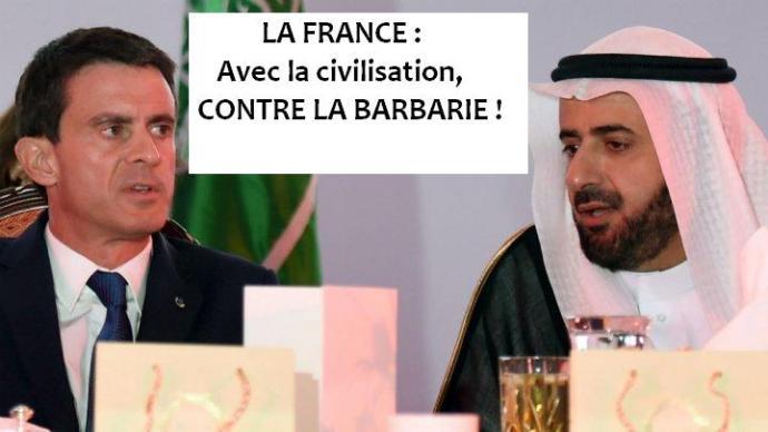 Valls avec le ministre du commerce saoudien, 12 octobre 2015
