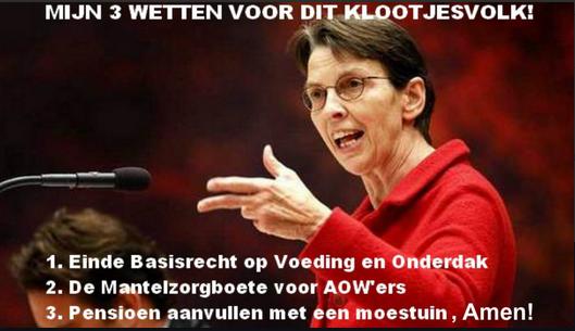 Jette Klijnsma, secrétaire d'Etat ('travailliste', Pays-Bas) aux affaires sociales et à l'emploi