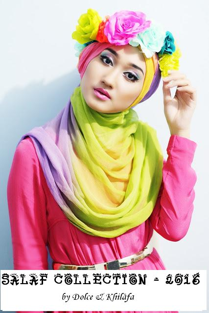 rainbow hijab with flowers